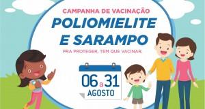 """Secretaria Municipal de Saúde de São João das Missões realiza """"Dia D"""" da Campanha de Vacinação Contra Sarampo e Poliomelite"""