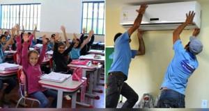 Prefeitura de São João das Missões inicia instalação de ar-condicionado em Escola Municipal