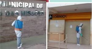 Prefeitura de São João das Missões realiza trabalho de Desinfecção de Vias e Espaços Públicos